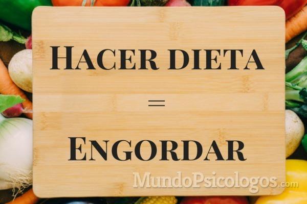 Por qué hacer dieta no sirve para adelgazar